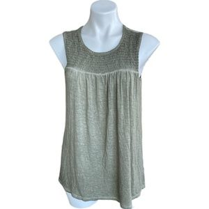 NWT Knox Rose Sleeveless Olive Green Top Large